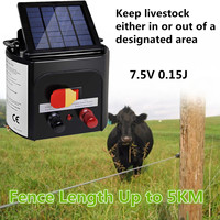 5km Monocrystalline Silicon ABS Waterproof AU Plug Solar Power Electric Garden Farm Fence Fencing Energizer Charger Controller