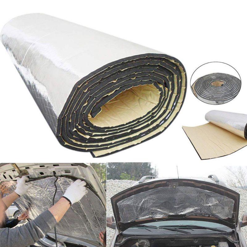 2*0.5/1.4*1 m tapis de preuve d'isolation Audio contrôle du bruit insonorisant voiture bouclier thermique insonorisation mousse amortissement isolation nouveau
