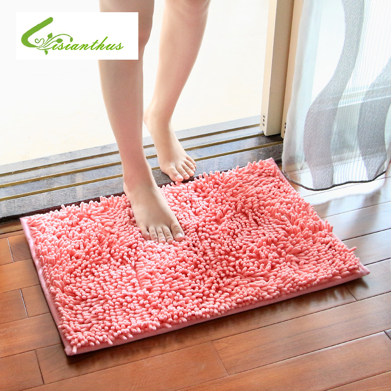 Microfiber Bath Mat Soft Comfortable Material Absorbent Rugs Mats Bedroom Non Slip Floor