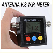 SURECOM SW-102  SW102 vswr frequency counter & power meter FREE ADAPTOR FOR BAOFENG WALKIE TALKIE