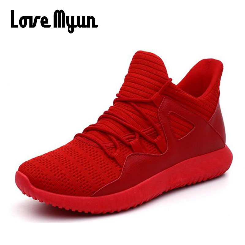 2019 Light Trainers Mens casual Sneakers Summer Breathable Men Red WHITE BLACK Mesh Sneakers Low lace up Shoes Male Outdoo HH-32 shoes fashion mens 2018