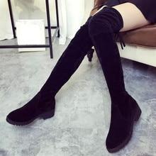 Jasmine Women Winter Autumn Fashion Mid Heel Bottom Boots Knee High Leg Long Boots 0119 drop shipping