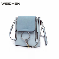 Scrub Ring Blue Women S Handbag 2017 Summer Fashion Chain Small Women Backpack Female Shoulder Bags