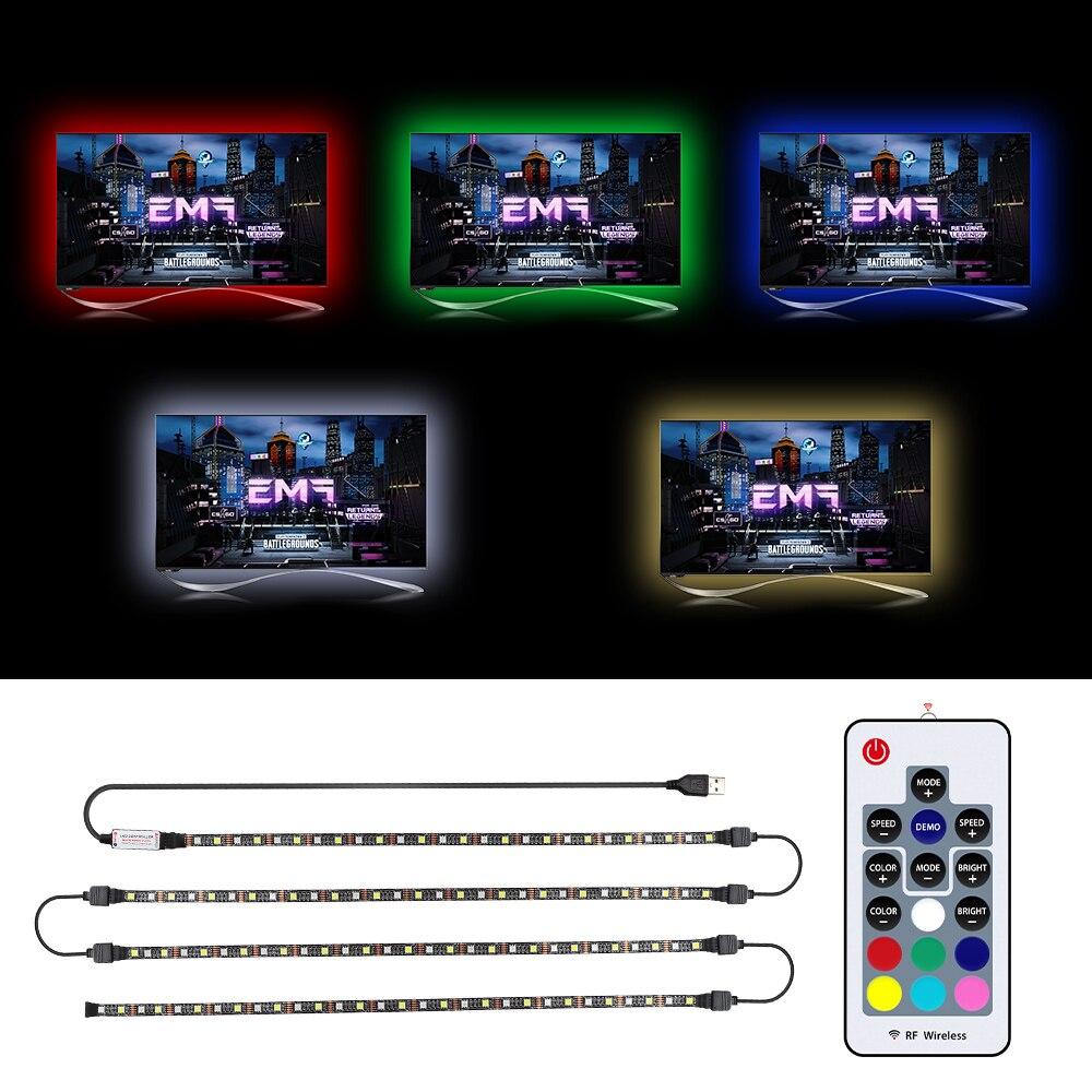 USB LED Strip RGBW RGBWW 5050 SMD Flexible Strip Lights LED Tape For HDTV Background Bias Lighting TV Backlight 50CM 1M 2M 3M 4M