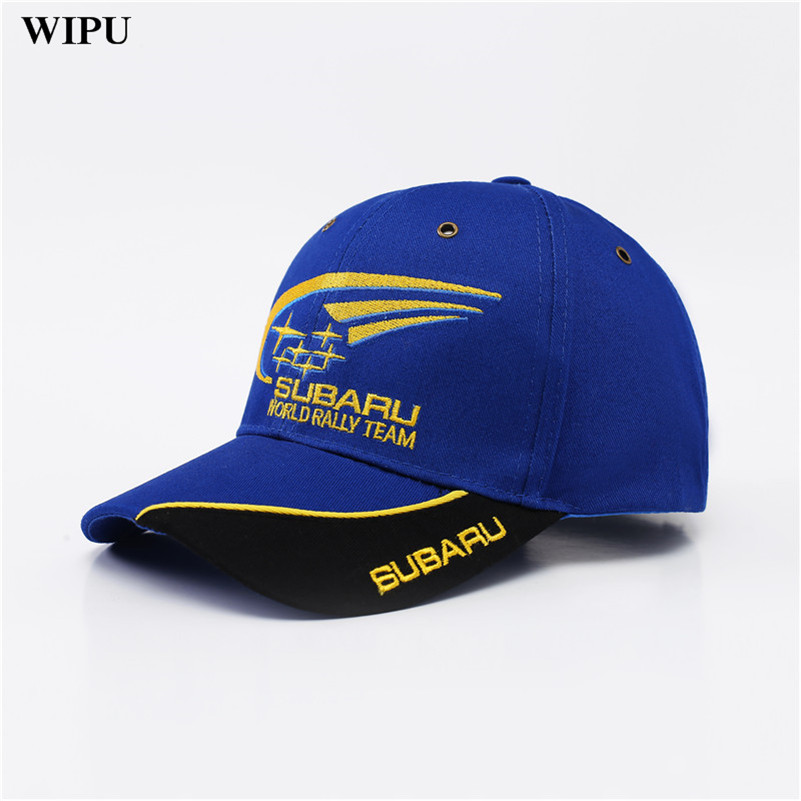 WIPU 2018 Outdoor Men F1 Racing   Cap   Cotton Male Sports Motorcycle Racing   Baseball     Caps   Car Sun Hats Blue