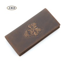 J.M.D High Quality Genuine Leather Fashion Design Long Purse Unique Pattern Men New Style Wallet Card Holder Clutch bag 8030R-1 2018 card holder personalityleather standard wallet new limited edition leather personalized design classic mafia pattern ha