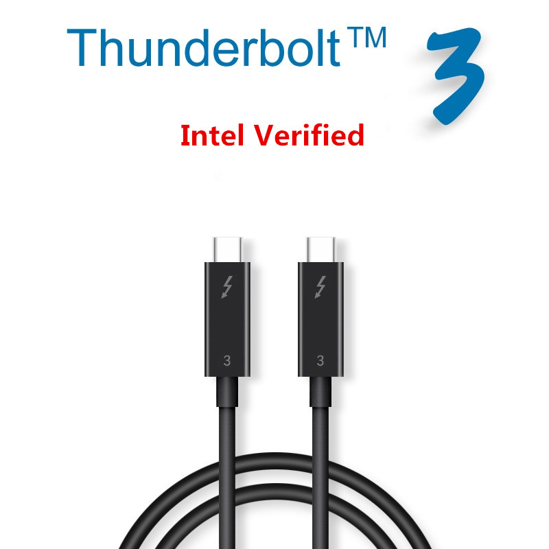 Fanshu Thunderbolt 3 Certified 100W 40Gpbs USB C Cable Adapter Compatible with MacBook Pro ThinkPad Yoga Alienware 17 and More