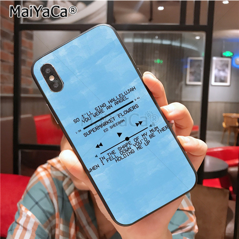 US $1 13 13% OFF|Aliexpress com : Buy MaiYaCa Ed Sheeran Lyrics Pictures  Diy Cell Phone Protective Case for Apple iPhone X XS XR XS MAX 8 7 6 6S  Plus