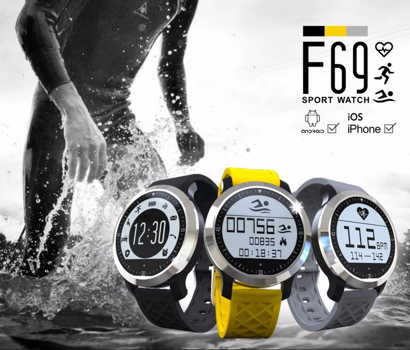 Waterproof font b Smart b font Watch Clock LCD Screen display under sunlight Swimming Mode Healthy