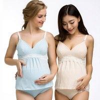 Maternity Breast Feeding Vest Cotton Pregnant Women Nursing Tops Shirts Summer Sleeveless Women Clothing Wire-Free Underwear