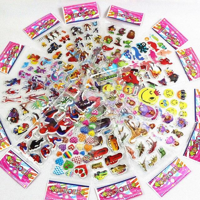 15 diferentes 3D adesivos de filmes de desenhos animados anime crianças adesivos toy superhero expressões bonito pet PVC scrapbook presente das crianças