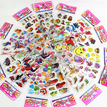 15 different 3D stickers cartoon movies anime children toy expressions superhero cute pet PVC scrapbook childrens gift