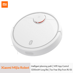 Original Xiaomi Mi Robot Vacuum Cleaner for Home Automatic Sweeping Charge Dust Cleaner Smart Planned Mobile App Remote Control