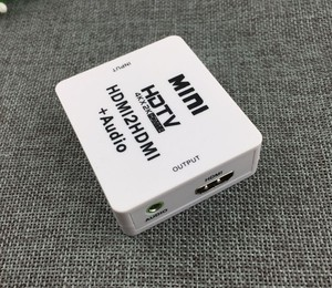 Мини HDMI2HDMI 4K x 2K HDTV HD HDMI к HDMI аналоговый аудио видео конвертер сплиттер адаптер 1,4 V