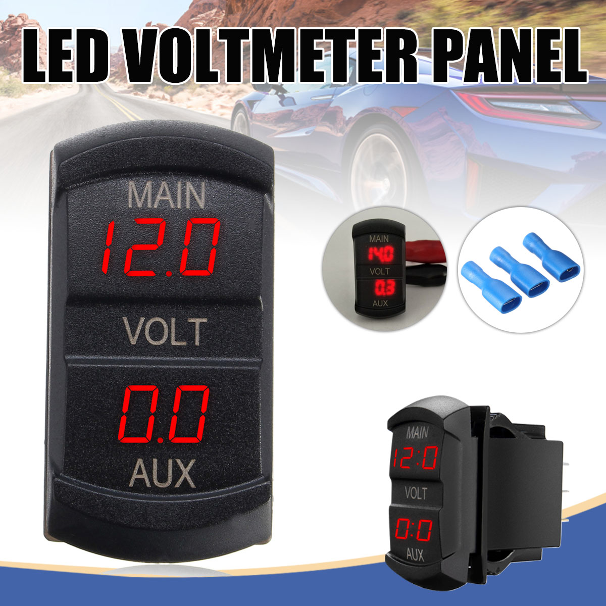 12 24v Car Boat Motorcycle Led Digital Dual Volt Meters Aux Main Battery Monitor Voltage Gauge Auto Panel Voltmeter Tester In From Automobiles