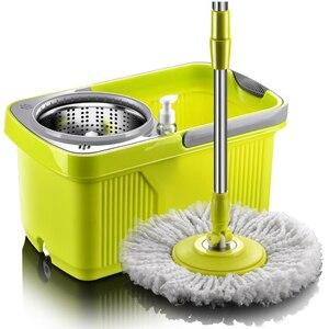 Image 1 - Швабра с вращающейся шваброй, тряпичная Швабра для мытья пола и окон, щетка и совок для уборки дома