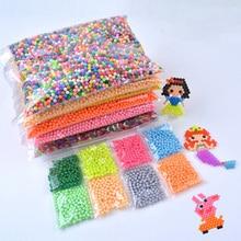 200-1000Pcs/Set 24 Colors 5mm Water Spray Aqua Perlen Magic Beads Educational 3D Puzzles A