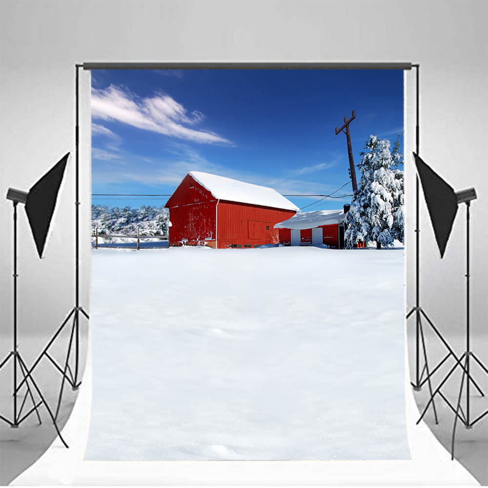 Mehofoto Winter Farm Backdrops for Photography Warehouse Photo Booth Backgrounds Forest  ...