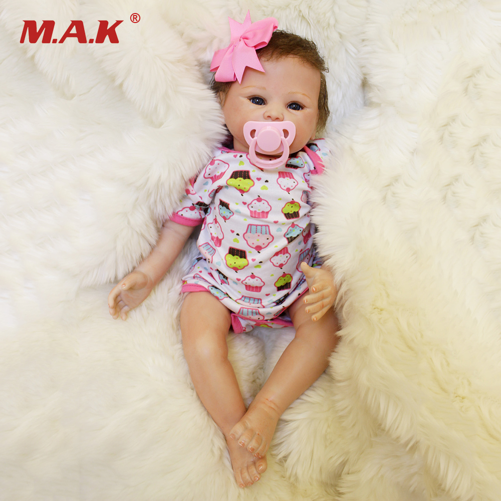 45cm Lovely soft baby reborn doll Silicone cotton dolls Birthday Festival Gifts Toys for Children