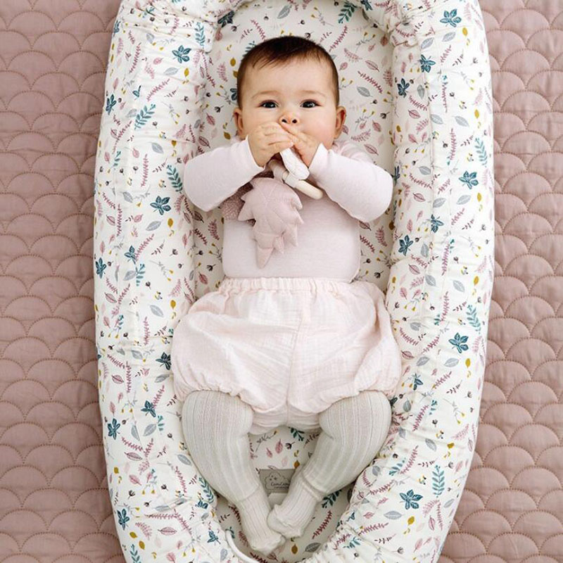 2018 New Cotton Baby Uterine Bionic Bed Pillow Portable Newborn Crib Infant Travel Bed with Bumper Baby Bedding Accessories