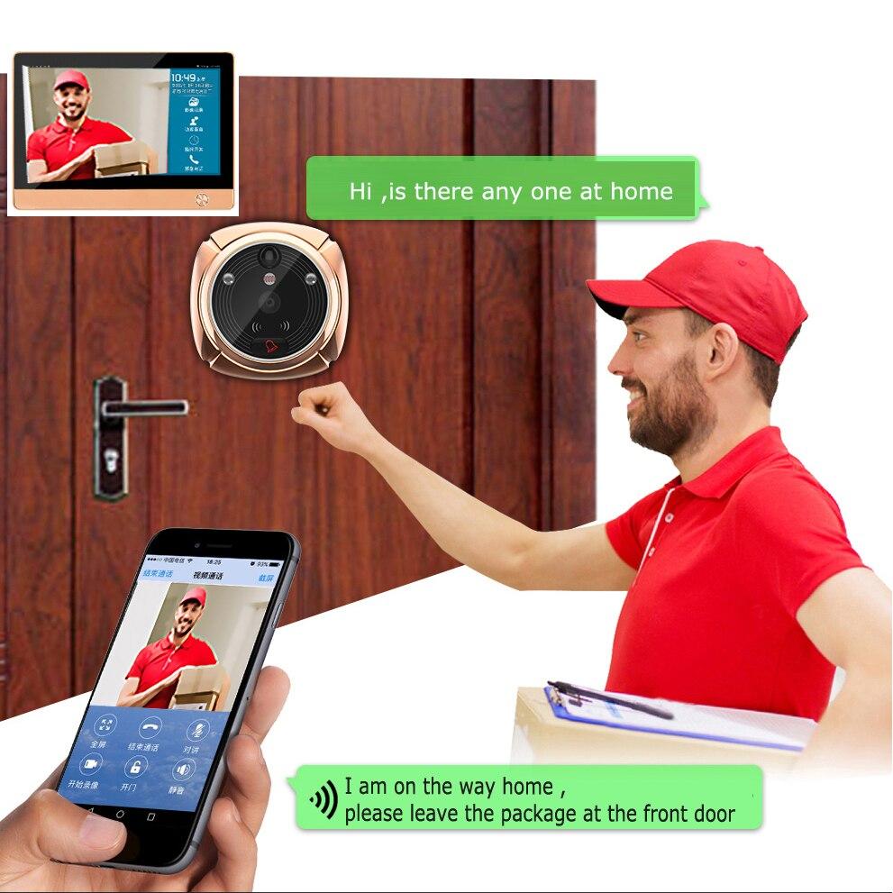 Upgraded wifi video intercom door phone smart home
