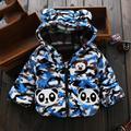 Bebé recién nacido Bebé Abrigo Chaqueta Con Capucha Espesar Caliente Infantil ropa de Down Parkas Oso Encantador Nieve Desgaste de los Bebés de Invierno ropa