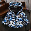 Newborn Baby Boy Coat Baby Hooded Jacket Thicken Warm Infant Garment Down Parkas Lovely Bear Snow Wear Baby Girls Winter Clothes