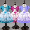 2017 summer new arrival flower fashion girl dress,lace rose Party Wedding Birthday girls dresses,Candy princess tutu