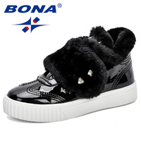 BONA Winter Rubber Outsole Children Boots New Fashion Children Shoes For Girls Boys Sneakers Sapato Kids Winter Boots