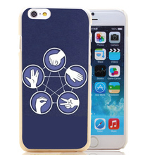 Paper, Rock, Lizard, Spock, Scissors iPhone cover / case