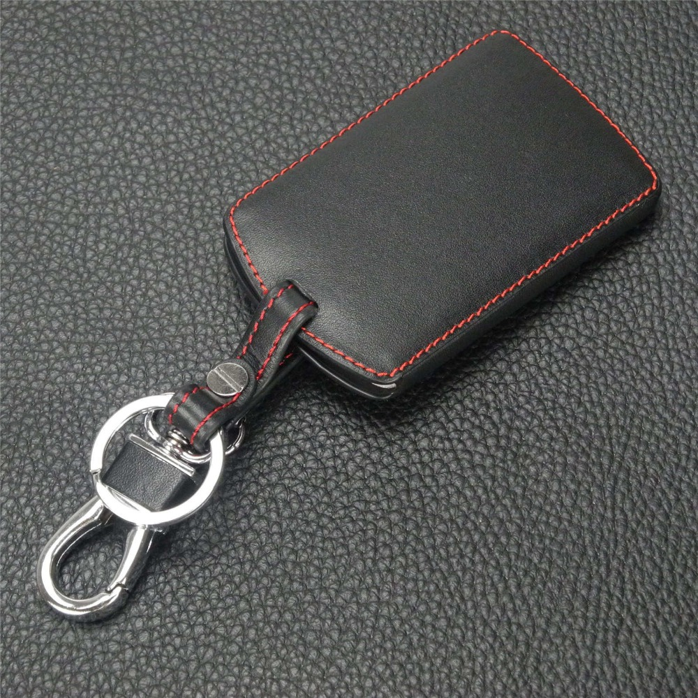 Image 4 - jingyuqin Leather Keychain Key Case Holder for Renault Clio Scenic Megane Duster Sandero Captur Twingo Koleos protector Cover-in Key Case for Car from Automobiles & Motorcycles