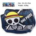 1 Pcs Anime One Piece CRÂNIO Cabeça Piratas de Corações Padrão colorido bolsa de Ombro Bolsa escola Mochila