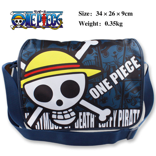One Piece Skull Head Pirates of Hearts School Bag Shoulder Backpack