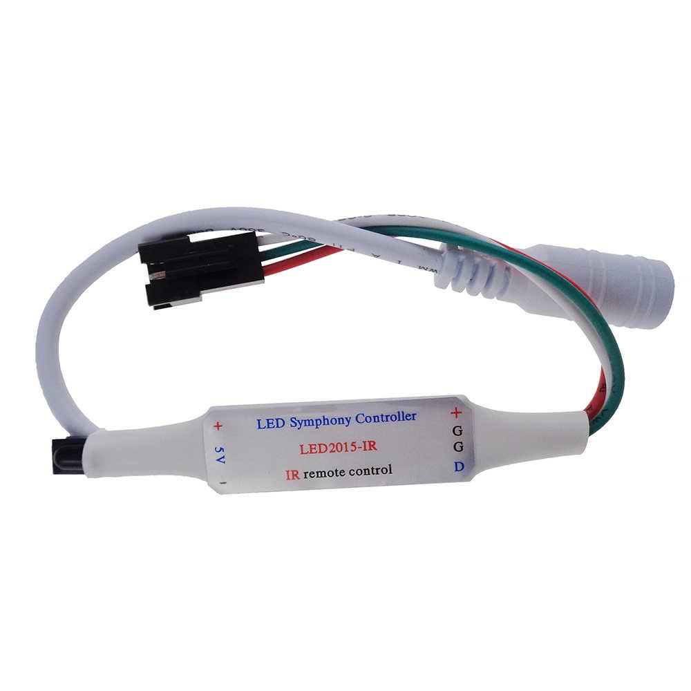 21Key DC5V WS2812 WS2812B IR Controlador LED 63 tipos de efectos Led controlador de píxeles para tiras Led a todo Color controlador Led 1 piezas