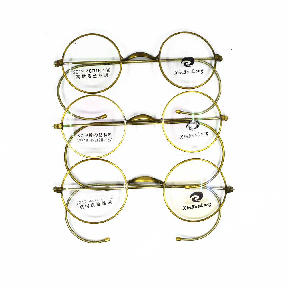 33f83a52d928 Vintage Real Old Antique Round Full Rim Eyeglass Frames Wire Rim Optical Rx  able Glasses