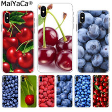 Maiyaca Hijau Buah Ceri Cherry Blueberry Strawberry Telepon Lucu Case Case untuk iPhone 8 7 6 6S Plus X XS MAX 10 5 5S SE XR(China)