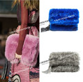 Luxury Oversize Fold Over Faux Fur Clutch with Tassel Designer Runway style Women ladies Large handbag Evening party bag Bolsa