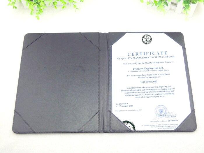 Certificate folder PU leather, A4 certificate holder red / black -in ...
