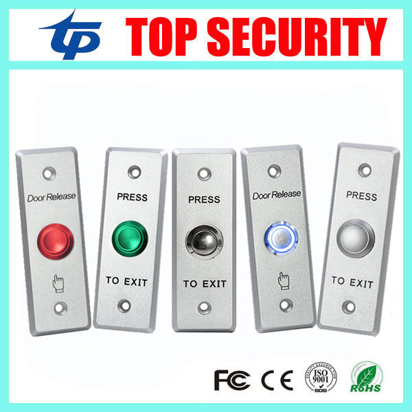Stainless Steel Exit Button Led Light Metal Exit Push Button NO/NC/COM Door Exit Switch Door Button For Access Control System stainless steel exit button wall mount exit button push door release exit button switch for access control