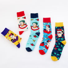 Indian pattern Fashion Happy Socks Woman Men Funny Socks Woman Cotton Hip Hop Art Street Crew Harajuku Short Socks fuzzy socks цены