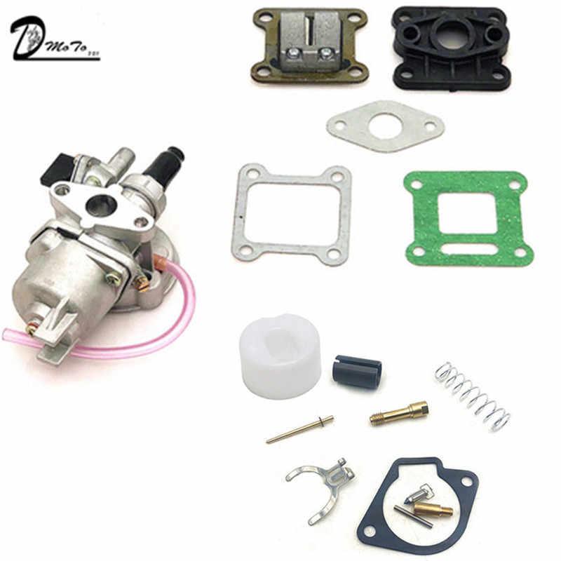 47cc 49cc Mesin Karburator dengan Perbaikan Rebuild Kit 2 Stroke 44-6 40-6 untuk Mini Quad ATV kotoran Sepeda Saku Minimoto Go Kart Kereta
