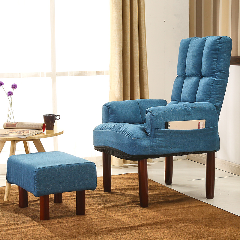 Lazy Sofa Chair With Footstool Armrest Living Room Furniture Backrest  Headrest Adjustable Modern Accent Chair Armchair Recliner