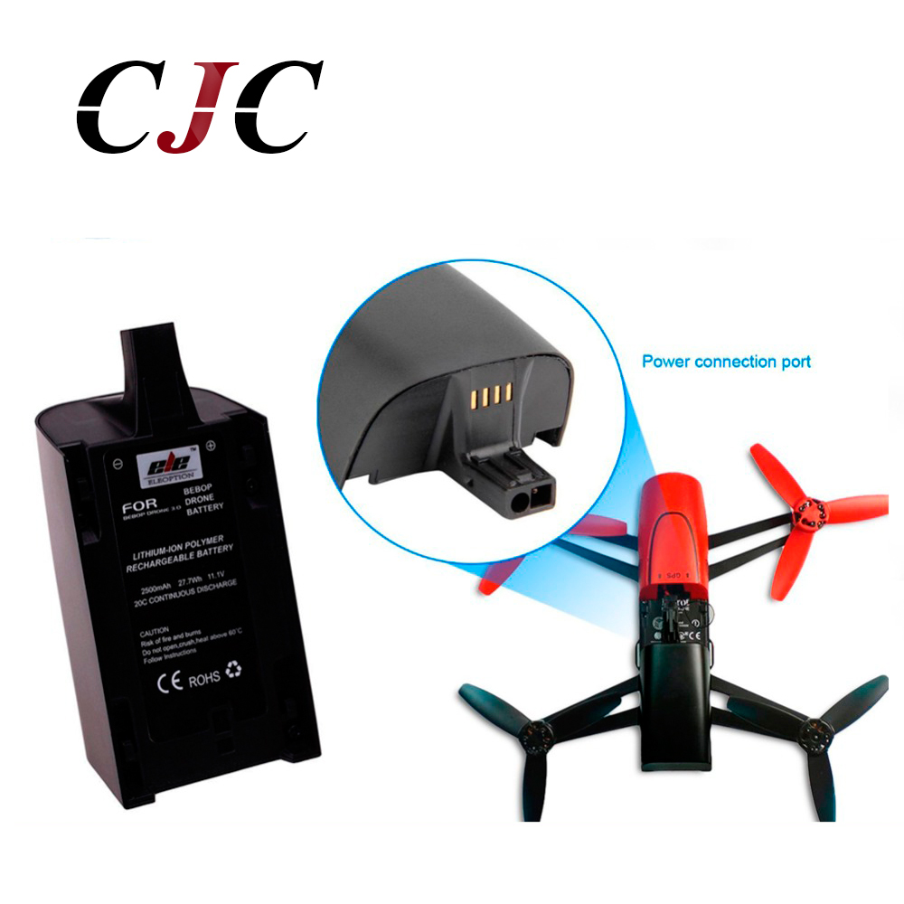 RC Helicopter Battery Newest High Capacity 2500mAh 11.1V Powerful Li-Polymer Battery For Parrot Bebop Drone 3.0 Quadcopter RC Helicopter Battery Newest High Capacity 2500mAh 11.1V Powerful Li-Polymer Battery For Parrot Bebop Drone 3.0 Quadcopter