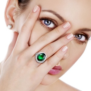 Image 2 - Szjinao anel de prata 925 simples pérola natural pedra preciosa anéis para mulher esmeralda pedra verde rendas vintage noivado sieraden