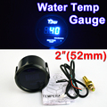 "2 ""52mm de Agua Medidor de Temperatura 40 ~ 120 Centígrados de Temperatura LED Azul Metro Automático Negro Shell Pantalla Digital 12 V del coche del ENVÍO LIBRE"