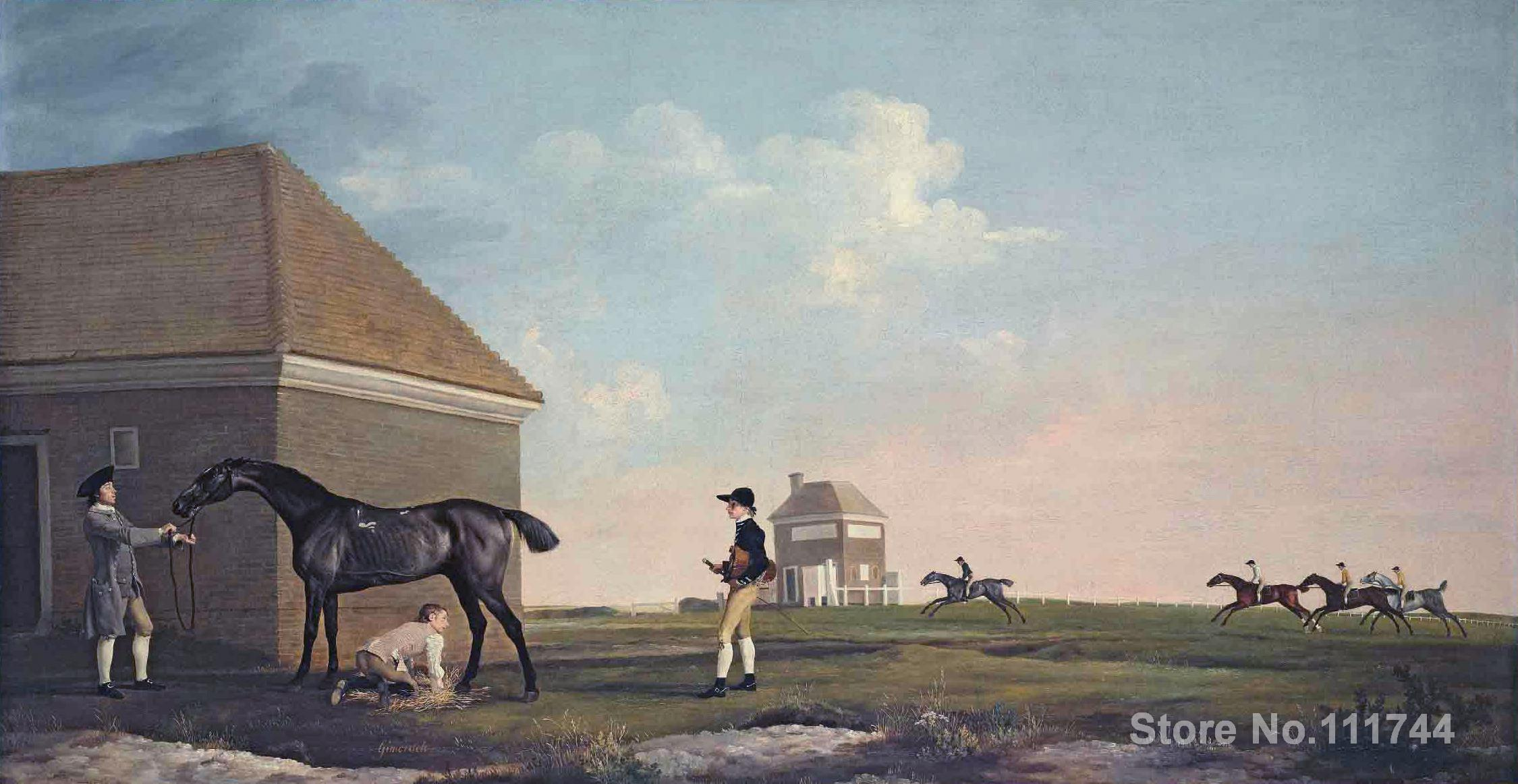 High quality oil painting of George Stubbs Gimcrack On Newmarket Heath With A Trainer A Stable Lad And A Jockey Hand paintedHigh quality oil painting of George Stubbs Gimcrack On Newmarket Heath With A Trainer A Stable Lad And A Jockey Hand painted