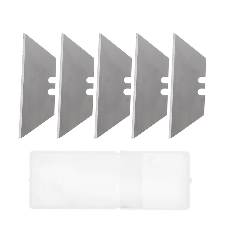 5Pcs Folding Trapezoid Cutting Blade Art Carpet Cutter Replaceable Utility Knife