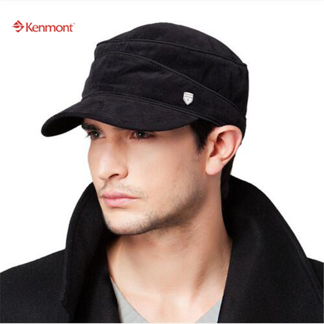 86597bb6189e0 Kenmont Spring Autumn Snapback Hat Cadet Flap Cotton Men Baseball Cap Plaid  Flat Outdoor Sports Hats