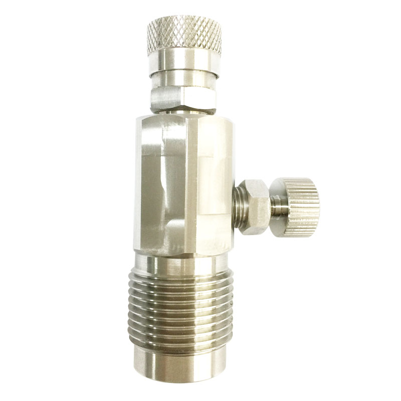 PCP Paintball High Pressure Cylinder Filling Valves 300bar Din Stations With G5/8 Thread For CF Tank Air Refill Stainless Steel