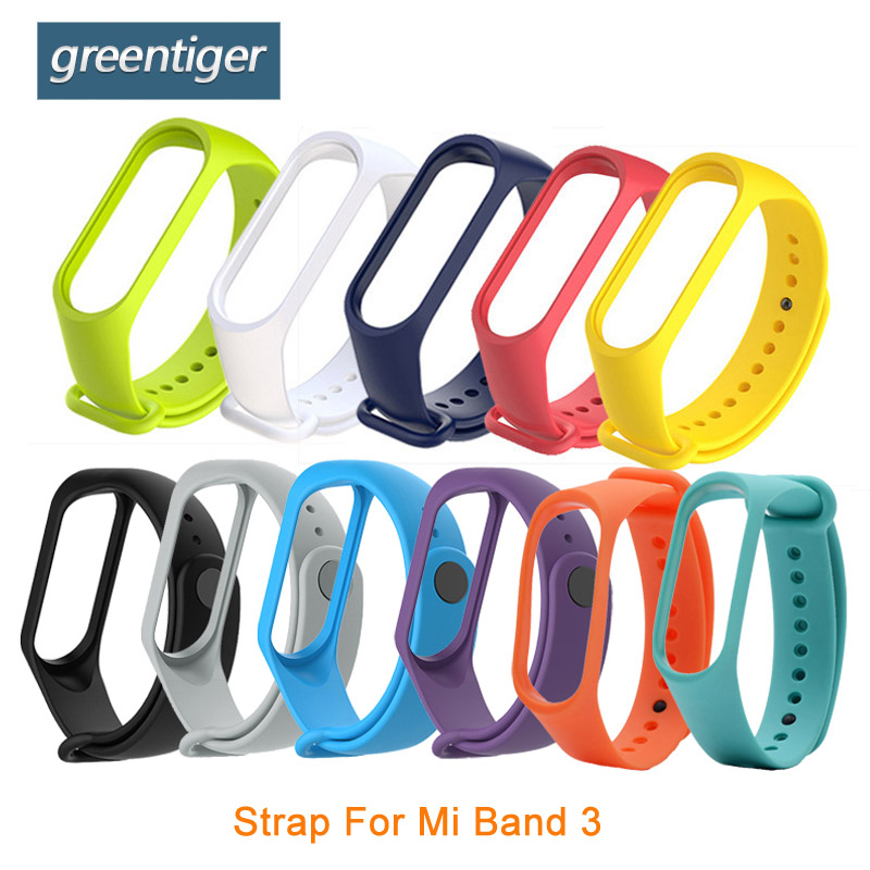 Single Color Silicone Strap for Xiaomi Mi Band 3 wrist strap For Xiaomi Mi band 3 Smart Band Accessories Bracelet Miband 3 Strap xiaomi mi band 3 strap черный